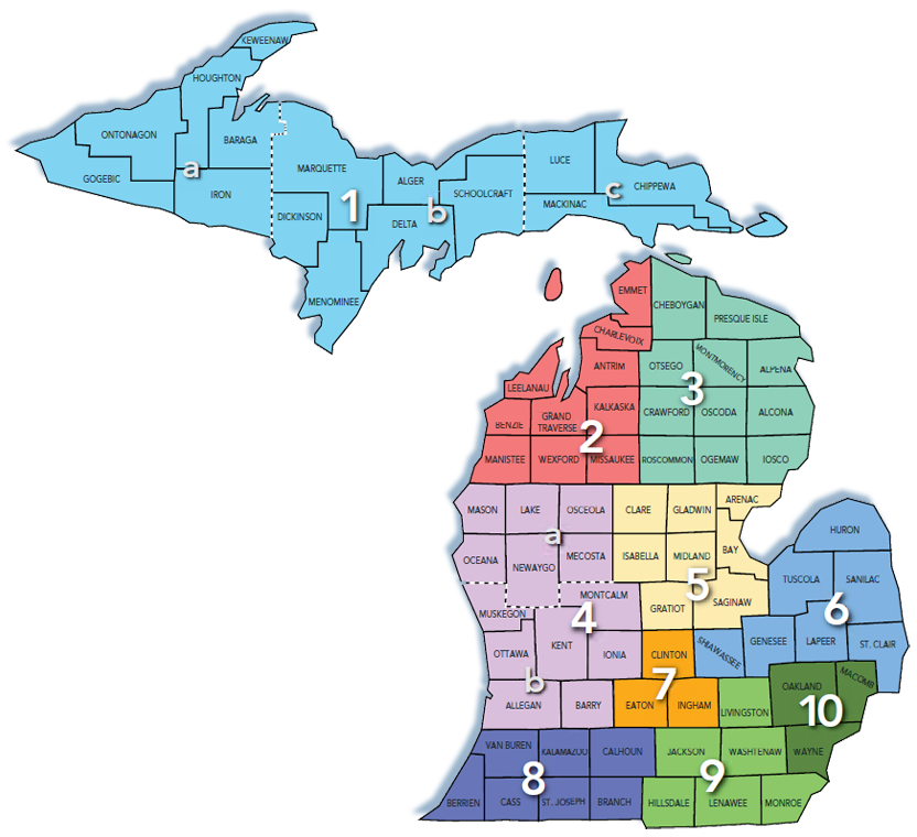 Michigan Regional Map